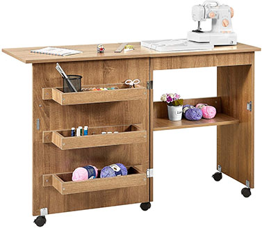 Kealive foldable sewing table - best sewing table with storage