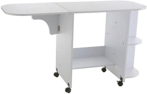SEI Furniture Eaton sewing table - best sewing table for quilting