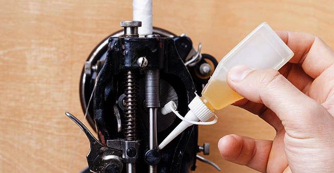 oil in sewing machine