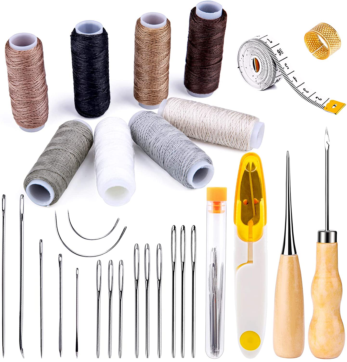 Jupean Store 30 Pieces Leather Sewing Kit